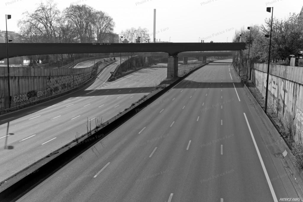 autoroute en période confinement