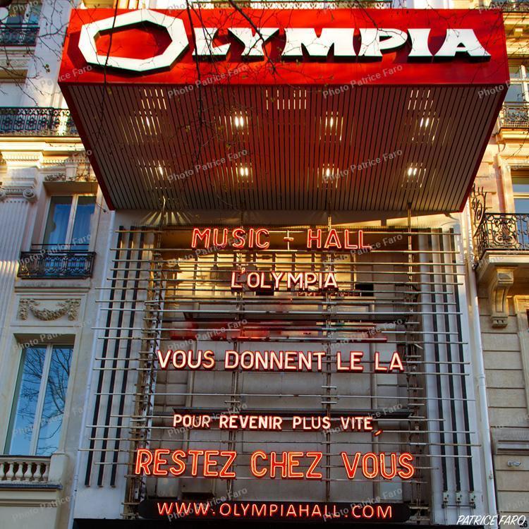 restez chez vous Olympia Paris